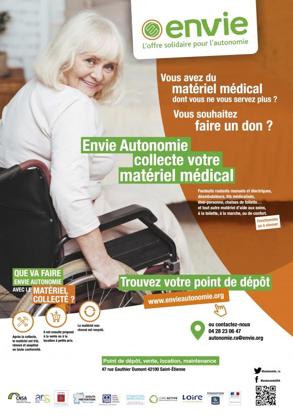 Affiche pour une collecte de matériel médical