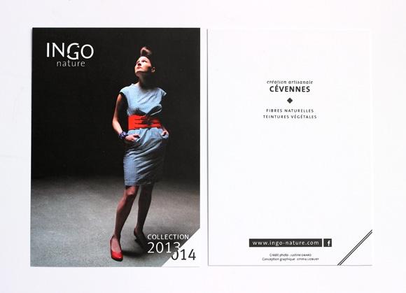 Création de la carte postale pour la marque Ingo-nature Emma Lidbury graphisme