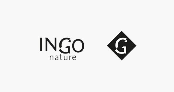 Création du logotype ingo-nature vetements et teintures artisanales, graphisme, lidbury
