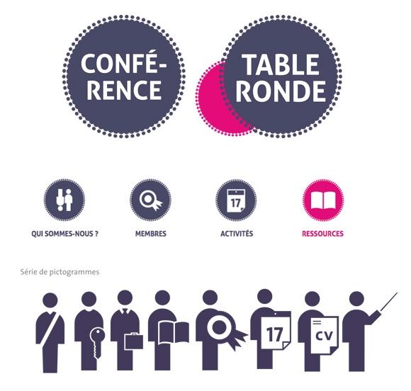 Charte graphique de l'Institut de la concertation, logotype et pictogramme, graphisme, Lyon