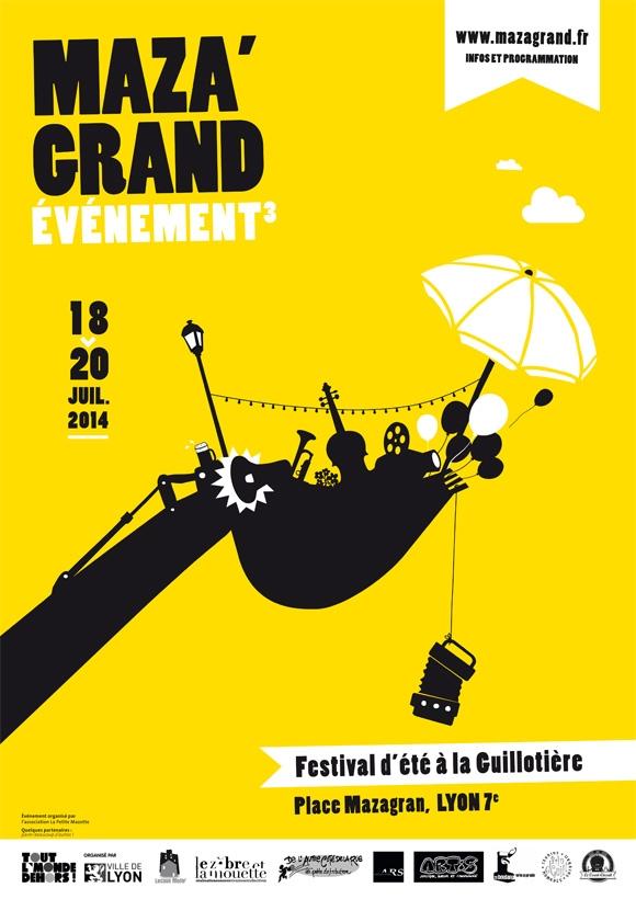 Affiche du festival Mazagrand'évenement Lyon graphisme 2014