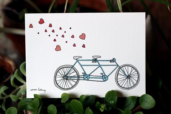 Carte du tandem amoureux, illustration, Lyon